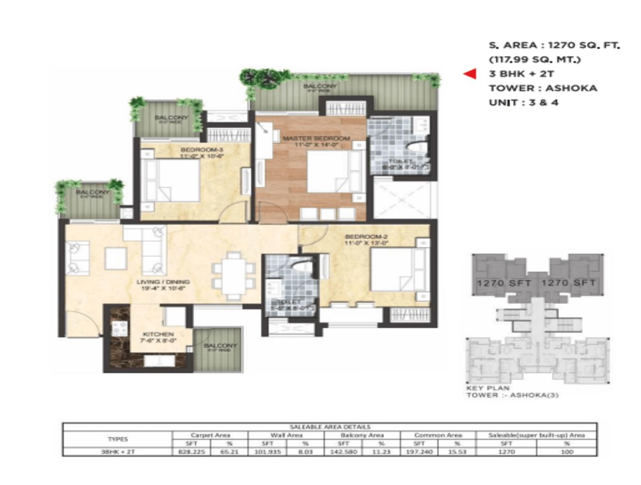 Sikka-Kimaantra-Greens-1270 sq.ft